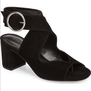 New Charles David black Suede Sandals